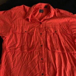 Orange Button Down VINTAGE Liz Wear